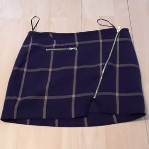 California Moonrise mini plaid skirt